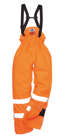 Portwest S781 Bizflame Rain Lined Hi-Vis Anti-Static FR Trouser