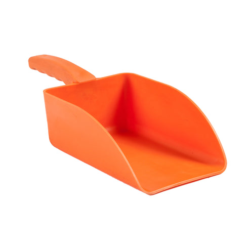Orange moulded hand scoop