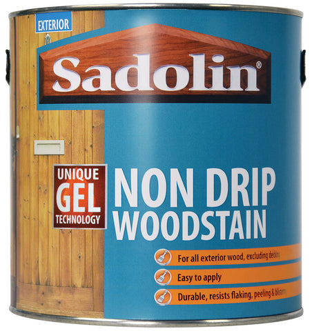 Sadolin Non-Drip Woodstain - 2.5 litre