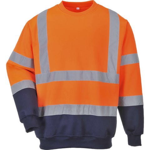Portwest B306 Two Tone Hi-Vis Sweatshirt