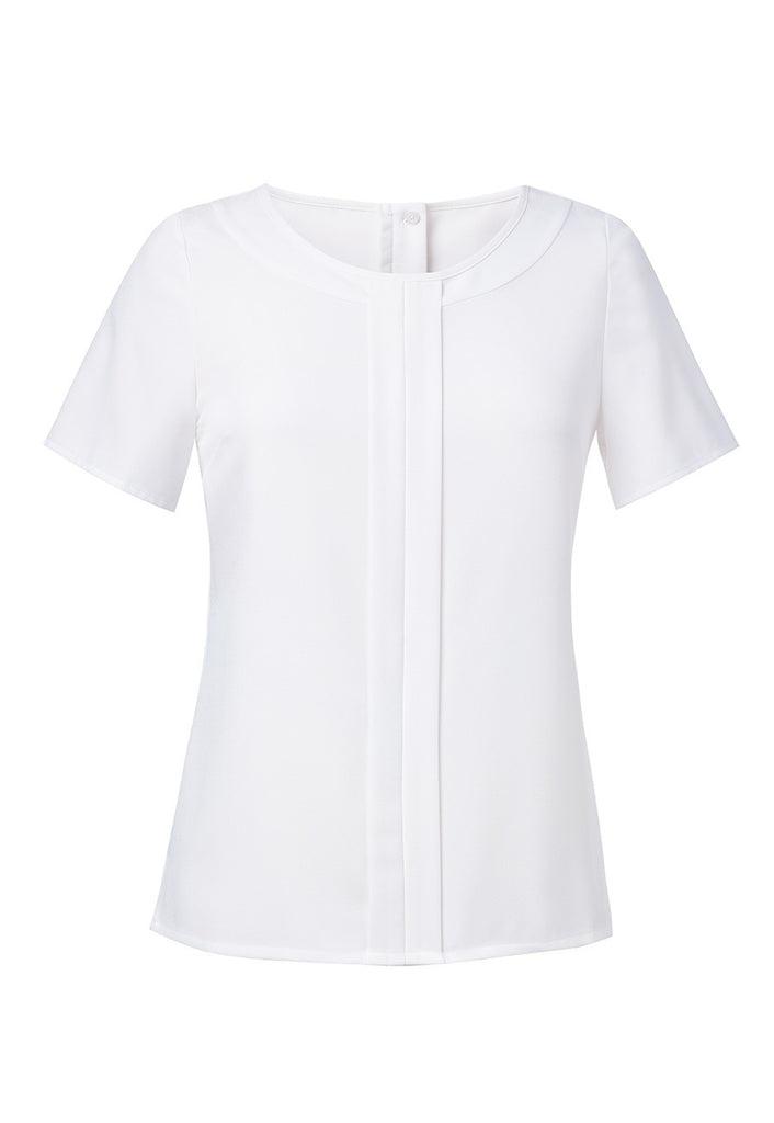 Brook Taverner 2265 Felina Short Sleeve Crepe Blouse