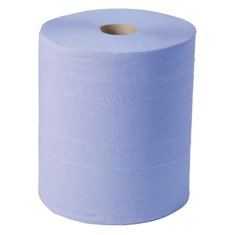 Glensoft CAS0560 Blue Wiper Roll 2 ply (2 Pack)
