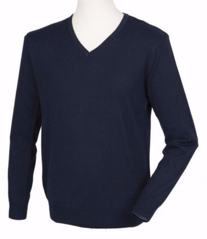 Henbury HB760 Mens Cashmere V-Neck Jumper