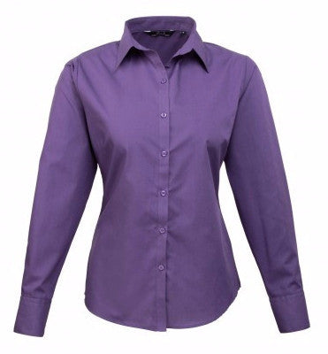 Premier PR300 Long Sleeve Poplin Blouse