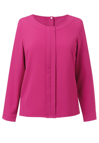 Brook Taverner 2279 Roma Long Sleeve Crepe Blouse