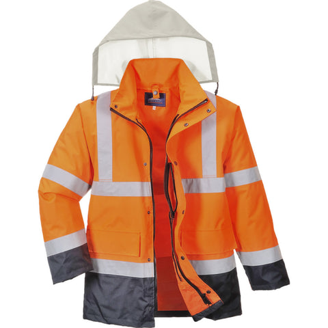 Portwest S471 Hi-Vis 4-in-1 Contrast Traffic Jacket