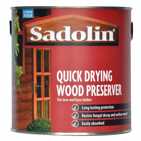 Sadolin Quick Drying Wood Preserver - 2.5 litre