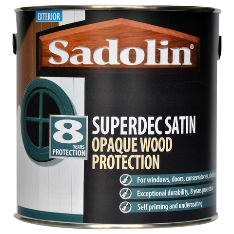 Sadolin Superdec Satin Opaque Wood Protection - 2.5 litre