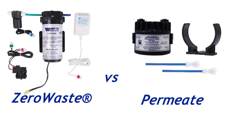 What is the difference between a Permeate Pump and a ZeroWaste® Retro Fit Kit?