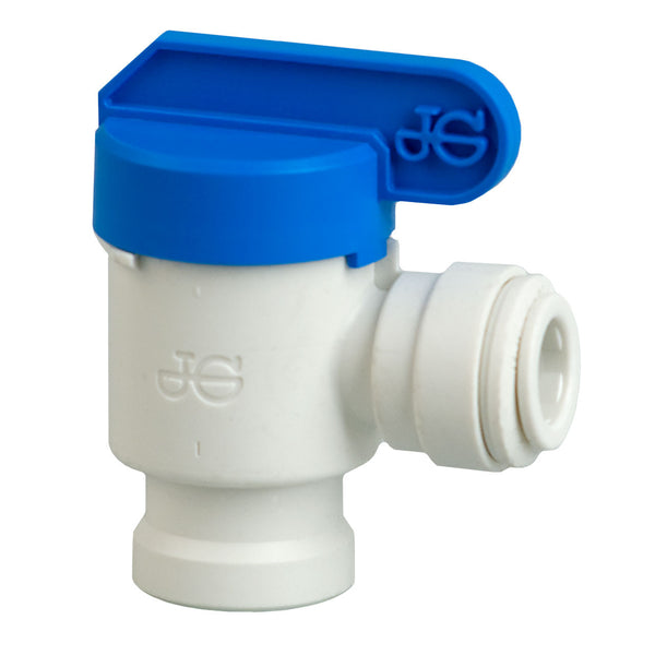 134018 Ball Valve 1/4 QC x 1/4 Female NTP Elbow by John Guest