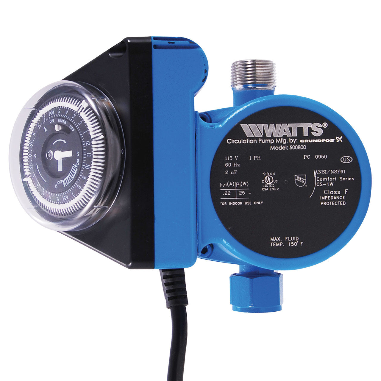 Watts Premier 500800 Hot Water Recirculating Pump With Timer