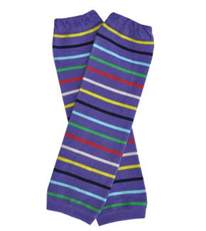 "Baby Leg Warmers ""Thin Stripes on Purple"""