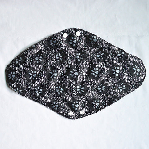"Cloth Pad Bamboo 14"" ""Black Lace"""