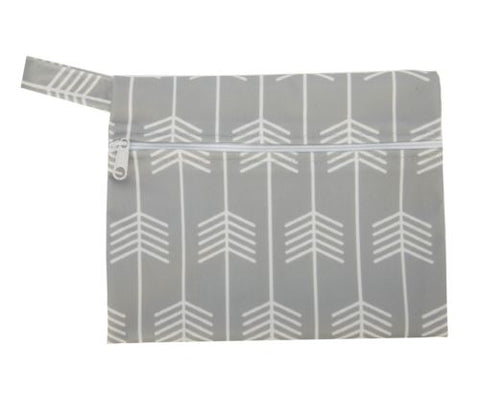 "Mini Wetbag ""Arrows on Grey"""