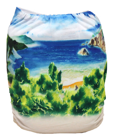 "Fluffy Penguin Pocket ""Beach Landscape"""
