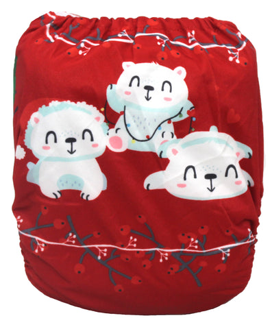 "Fluffy Penguin Pocket ""Polar Bears"""