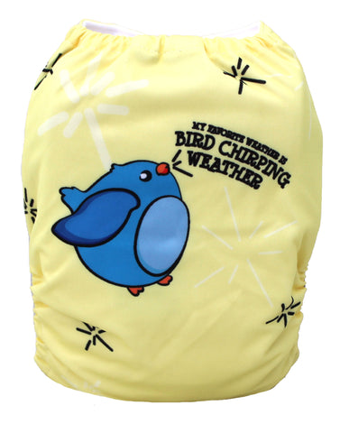 "Fluffy Penguin Pocket ""Bird Chirping Weather"""