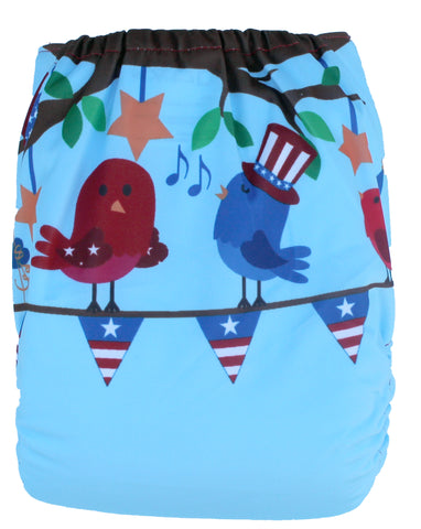 "Fluffy Penguin Pocket ""Patriotic Birds"""