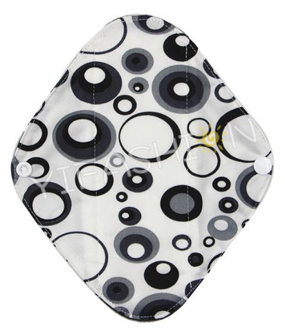 "YiFashion Cloth Pad 10 Inch Charcoal ""Black Bubbles"""