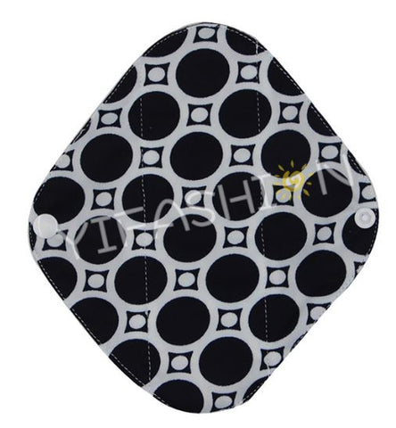 "YiFashion Cloth Pad 8 Inch Charcoal ""Black Circles"""