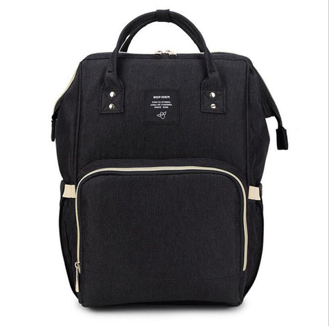 "Backpack Diaper Bag ""Black"""