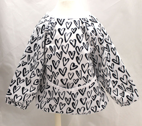 "Long Sleeve Full Bibs - ""Black Hearts"""