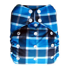 "THX One-Size All-In-One ""Blue Plaid"""