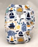 "Alva Newborn Charcoal All In One ""Boats in Bottles"""
