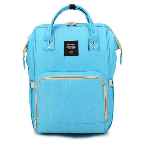 "Backpack Diaper Bag ""Bright Blue"""