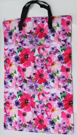 "Single Zipper Hanging Wetbag - ""Bright Floral"""