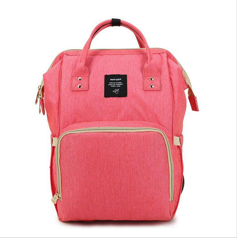 "Backpack Diaper Bag ""Bright Pink"""