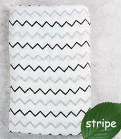"Muslin Swaddle Blanket ""Chevron"""