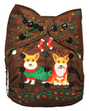 "Fluffy Penguin Cover ""Christmas Corgis"""