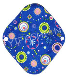"YiFashion Cloth Pad 10 Inch Charcoal ""Circles on Blue"""