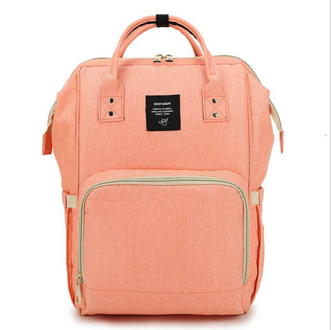 "Backpack Diaper Bag ""Coral Pink"""