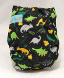"Alva Newborn Cover ""Dinos on Black"""