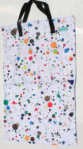 "Single Zipper Hanging Wetbag - ""Fun Dots"""