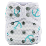 "Happy Flute Newborn Snap Cover ""Anchors on Chevrons"""