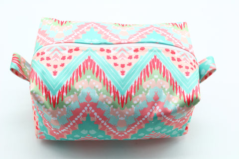 "Diaper Pod ""Pink and Teal Chevron Patterns"""
