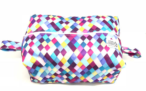 "Extended Diaper Pod ""Purple Diamonds"""
