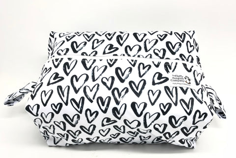 "Extended Diaper Pod ""Black Hearts"""