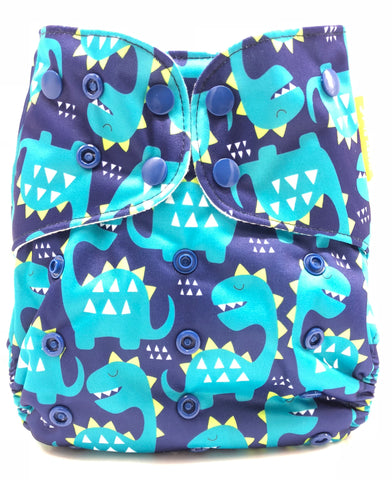 "Happy Flute BIG Pocket ""Navy Dinosaurs"""