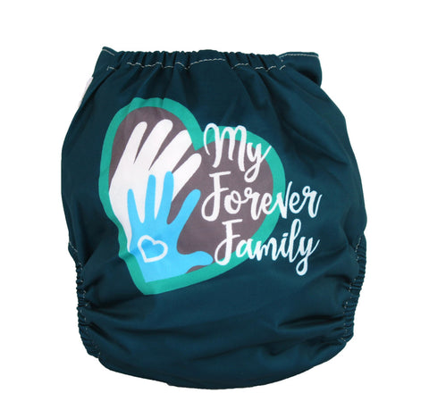 "Fluffy Penguin Pocket ""Forever Family"""