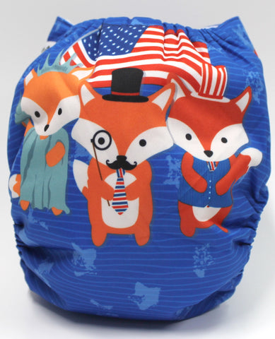 "Fluffy Penguin Pocket ""Patriotic Fox"""