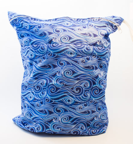 "Travel Wetbag ""Blue Swirls"""
