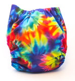 "Fluffy Penguin Pocket ""Rainbow Tie Dye"""