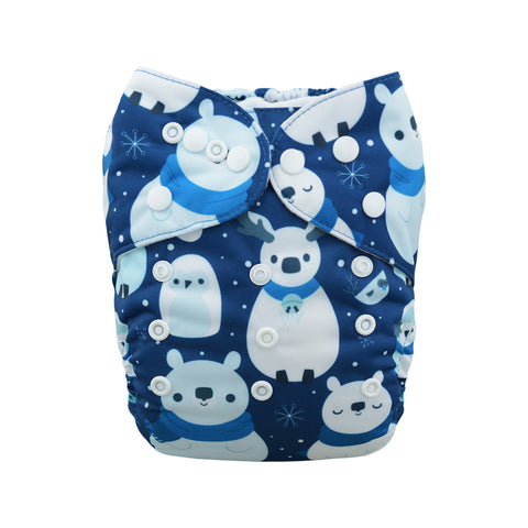 "Alva Pocket ""Snow Animals"""