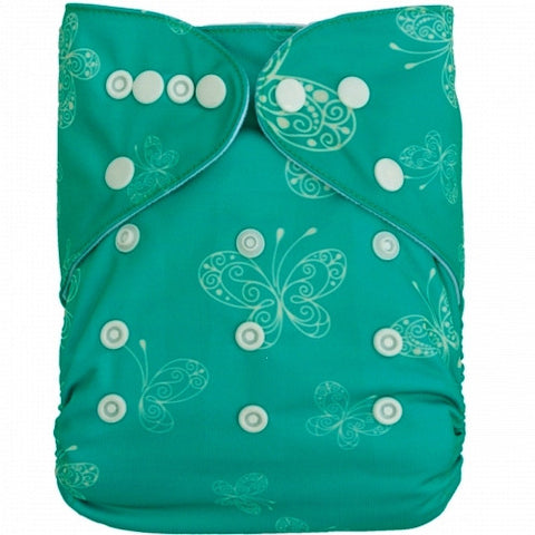 "Alva Pocket ""Green Butterflies"""
