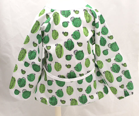 "Long Sleeve Full Bibs - ""Green Cactus"""