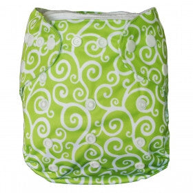 "Alva Pocket ""Green Swirls"""